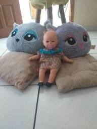 Conjunto almofadas de gato + boneca