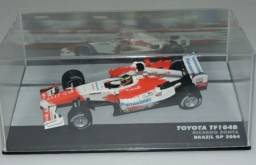 MINIATURA TOYOTA TF104B - RICARDO ZONTA - BRAZIL GP 2004