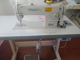 Máquina costura industrial Bracob 6150 com mesa e motor completa