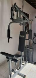 Estação de musculação semi nova, 80 kg, WCT Fitness FITT10.