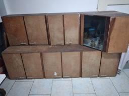 Armário de cozinha em madeira 3 peças
