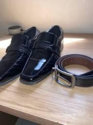 Sapato e cinto