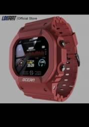 Smartwatch  Ocean Esportes vermelho