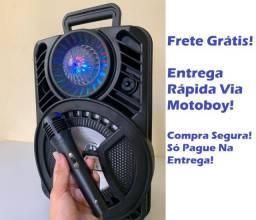 Caixa Portátil  (ALP 805) 1200W C/ Bluetooth e Microfone - Frete Grátis!