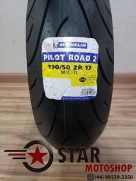 Pneu Michelin Pilot Road 2 CBR1000rr/Srad1000 190/50-17 - NOVO