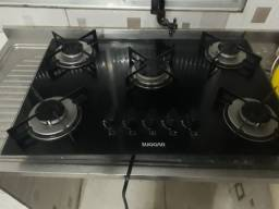 Fogão cooktop 5bocas