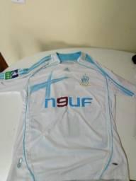 Camisa Olympique De Marseille Do Cisse Manga Longa Gg