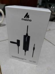 Microfone recarregável omnidirecional Maono AU-100R lapela .