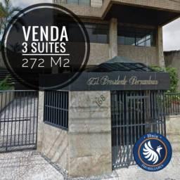 Ed. Presidente Pernambuco - 3 Suítes - 272 m² - 3 Vagas