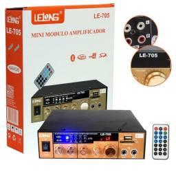 Mini Módulo Amplificador De Áudio Bluetooth Lelong LE-705