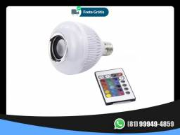 Lampada Musical Caixa De Som Bluetooth Led Rgb Com Controle