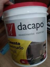 Cimento queimado Piso - Dacapo - balde 20kg