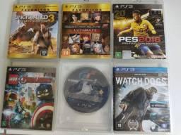 6 jogos PS3 - Blue-ray e kit direção (PS2/PS3/PC)