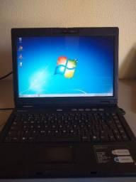 Notebook Intelbras 120 gb usado com defeito, veja a descrição