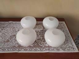 Globo de lustre / abajur em louça branca fina