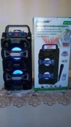 Caixa De Som Ecopower 1500Watts , Bluetooth, Nova, Lacrada