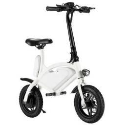 """Bicicleta Elétrica 001 com Rodas de 12"""" 25 km/h para até 120 kg - Branca"""