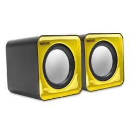 Caixa De Som USB/P2 Exbom Amarelo - CS-32