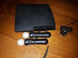 PS3 + PS Move + 8 Jogos