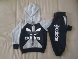 Conjunto Moletom Infantil Adidas