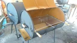 Churrasqueira a bafo - tambor 200L