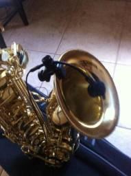 Sax tenor com kit microfone sem fio