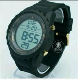 Relógio Sport pulseira de silicone (a prova d'água)