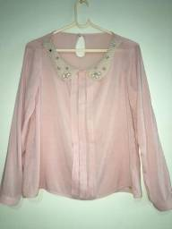 Vende-se blusa rosê c/ pérolas