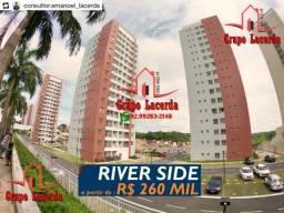 Condomínio River Side Ponta Negra 66m² 2 Quartos e 3 Quartos sendo 1 Suíte