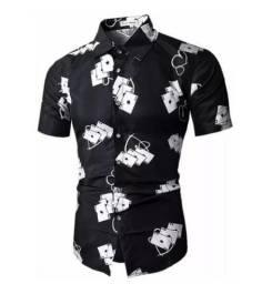 Camisa slim floral (Promoção)