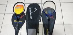 Raquetes de tênis e case
