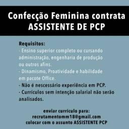 Vaga para Assistente de PCP