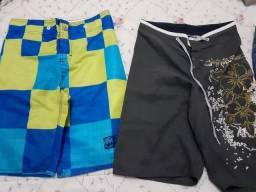 Bermudas de menino tamanho 10 e 12, combo com 5 bermudas