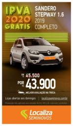 RENAULT SANDERO 2018/2019 1.6 16V SCE FLEX STEPWAY EXPRESSION MANUAL - 2019