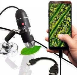 Microscopio digital com cabo USB novos na caixa