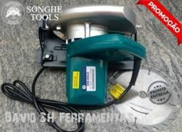 Serra Circular Profissional 1200w 110v e Disco 180mm Com Base Inclinavel Nova