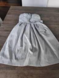 Vestido formatura cinza - não marca nada