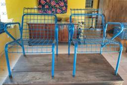Par de Cadeiras de ferro Restauradas