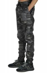 Calça masculina jogger camuflada,GG