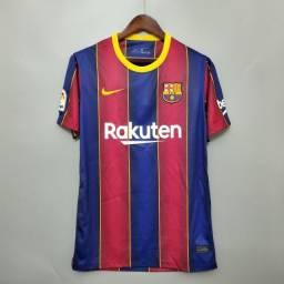 Camisa Barcelona 2020/21 Modelo Torcedor - M - Nova