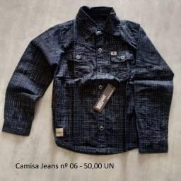 Camisas Jeans Infantis