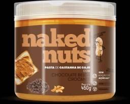 Naked nuts de castanha de caju com chocolate belga