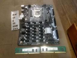 Placa Mãe b250 Mining Xpert + 8gb ddr4