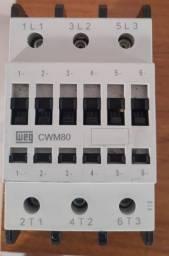 Contator Weg Cwm80-00-30v15 Tripolar 80a 220v - Novo