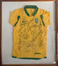 Camisa Autografada Seleção Brasileira 2006