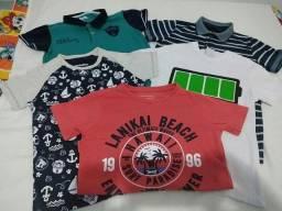 Roupa infantil Lote de camisas