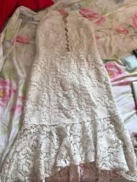 Vestido branco renda 36