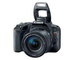Câmera Canon SL2 DSLR pouco tempo de uso + lente 50mm + lente do kit (18-55mm)