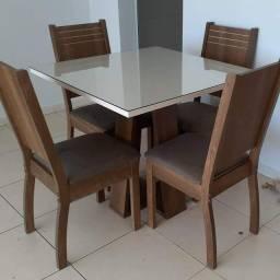 Mesa de Jantar Civik 4 Cadeiras - Entrega e montagem NA HORA
