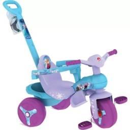 Triciclo Frozen Veloban Passeio Disney Lilás Bandeirante Seminovo Totoca